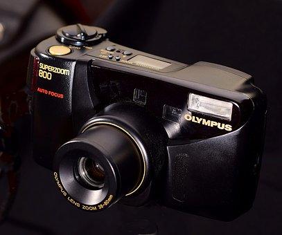 Old Fotoapparat, Analog, Olympus, Rangefinder Camera