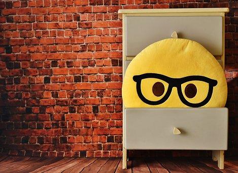 Cabinet, Emoticon, Funny, Drawer, Smiley, Cute, Plush
