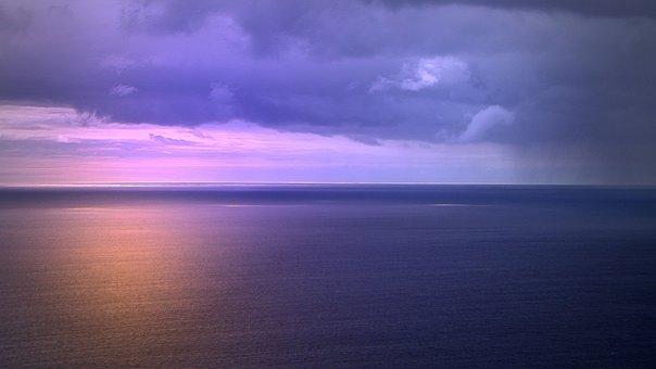Sunset, Madeira, Sky, Sea, Golden Sunset, Light