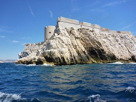 Marseille, Castle Of Yew, Sailboat, Sea, Mediterranean