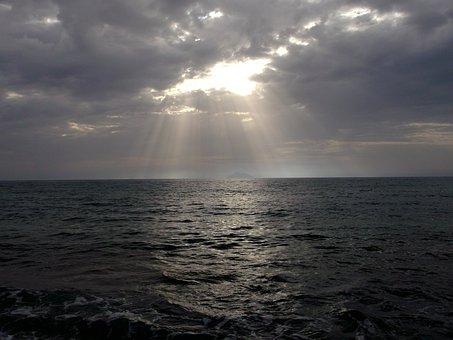 Sea, Sonnentstrahl, Crete, Light, Water