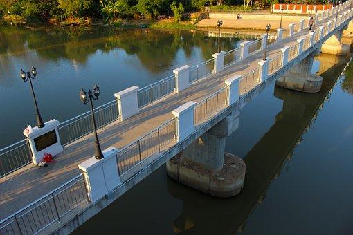 Bridge, Span, Architecture, Water, Suspension, Landmark