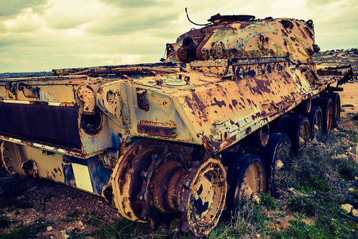 Tank, Rusty, Old, Steel, Military, Machine, Aged