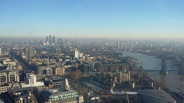London, Scape, Panorama, City, The River Thames, Houses