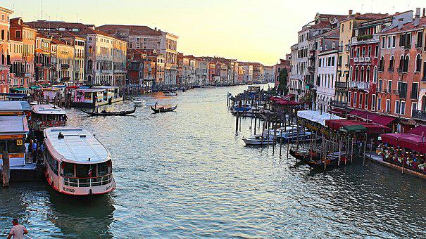 Venice, Italy, Water, Architecture, Building, Canal