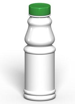 Packing, Plastic, White, Green, Bottle, Pet