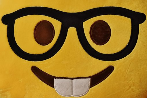 Smiley, Face, Funny, Cheerful, Glasses, Yellow, Grin