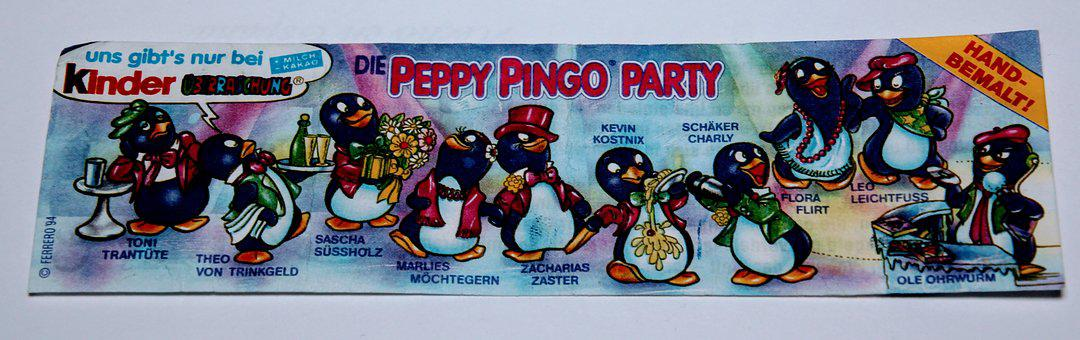 Peppy Pingo Party, 1994, überraschungseifiguren