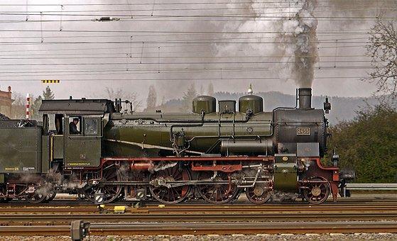 Steam Locomotive, Full Steam, Exit, Br38, Br 38