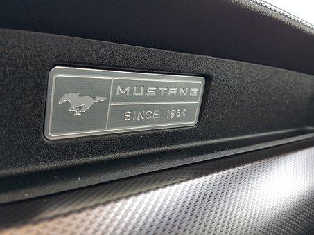 Mustang, Car, Auto, Automobile, Design, Vintage, Black