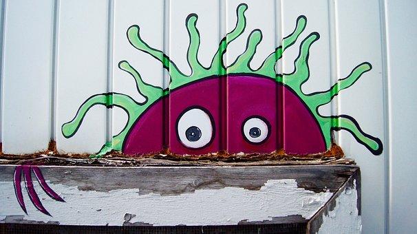 Monster, Wall Art, Cartoon, Artsy, Funny, Cute