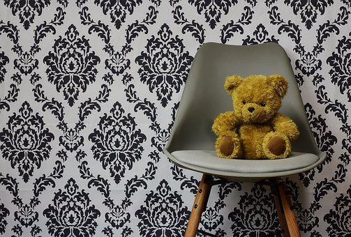 Teddy, Background, Pattern, Abstract, Chair, Modern
