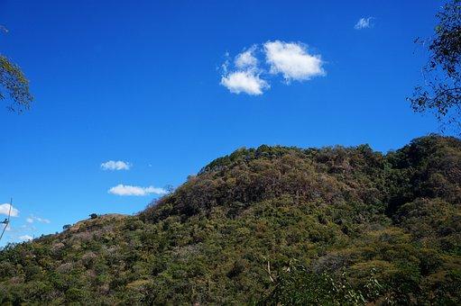 El Salvador, Hill, Mountains, Clouds, Blue Sky, Trees