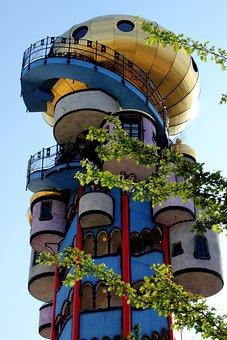 Hundertwasser, Architecture, Colorful, Art, Facade