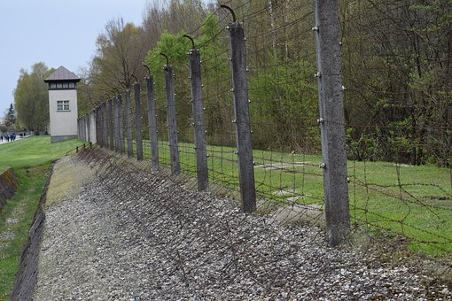 Fence, Concentration Camp, Prison, Dachau, Germany, War