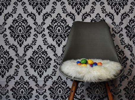 Easter, Egg, Easter Nest, Colorful Eggs, Chair, Modern