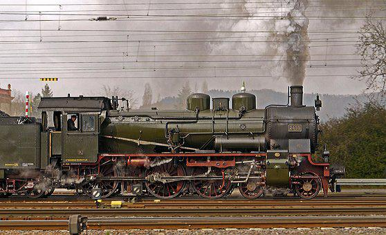 Steam Locomotive, Full Steam, Exit, Br38, Prussian, P8