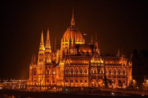 Budapest Parliament, By Night, Lights