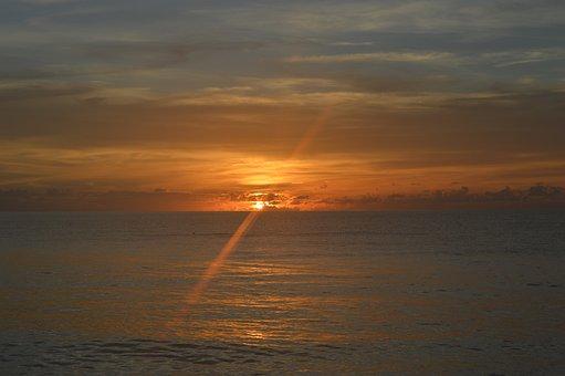 Sol, Sunrise, Dawn, Clouds, Nature, Mar, Dramatic Sky