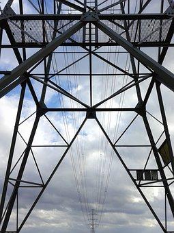 High Voltage, Mast, Powerlines, Pylon, Electricity