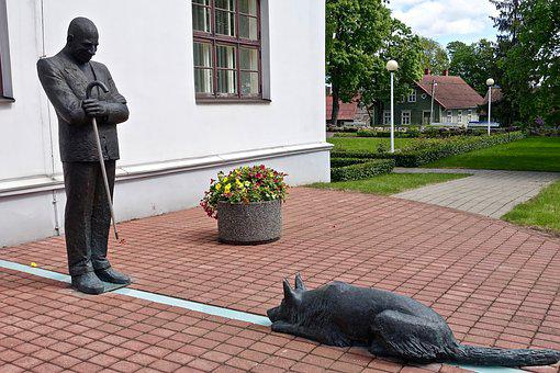 Statue, Dog, Symbol, Obedience, Sculpture, Monument
