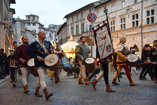 Historical Parade, Middle Ages, History, Perugia 1416