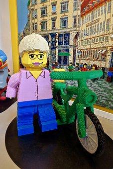 Lego, Figure, Bike, Fun, Blocks, Plastic, Toy, Bricks