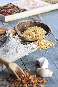 Rice, Kitchen, Blue, Wooden Spoon, Food, Restaurant
