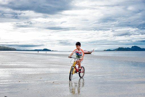 Sea, Kids, Beautiful, Thailand, Holidays