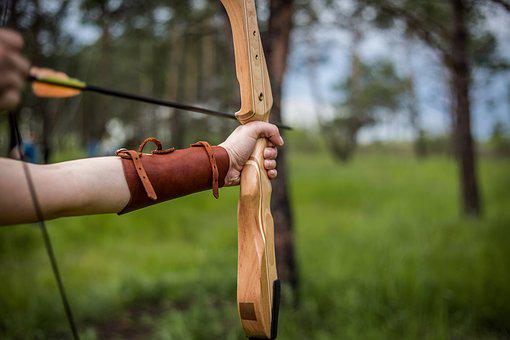 Arrow, Hand, Shooting, Forest, Brown, Game, Day