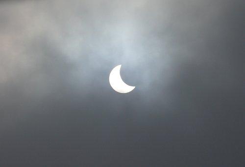 Solar Eclipse, Sun, Sky, Blackout