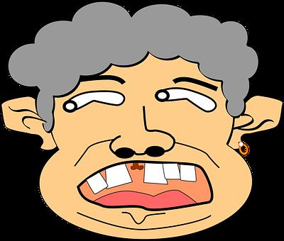 Man, Old, Space Width, Tooth Spaces, Gap-toothed, Teeth