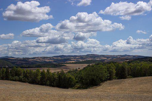 Landscape, Tuscany, Italy, Nature, Agriculture, Summer