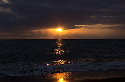 Sunset, Sea, Evening, Abendstimmung, Sunset Sea