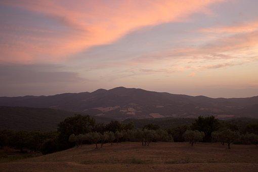 Tags Abendhimmel, Italy, Tuscany, Sunset, Abendstimmung