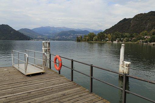 Landing Pier, Figino, Lake, Ticino