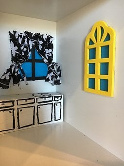 Doll House, Dolls, Room, Toy, Kitchen