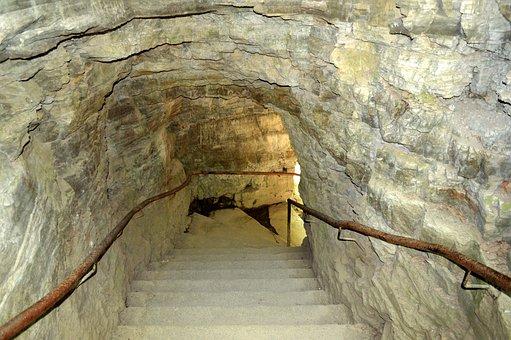 Cave, Stairs, Underground, Rock, Nature, Cavern