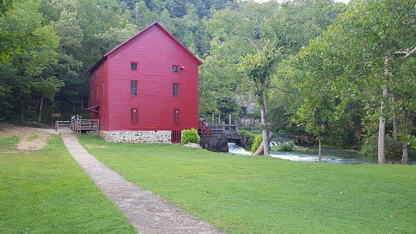 Missouri, Famous, Mill And Spring, Usa, America, Travel