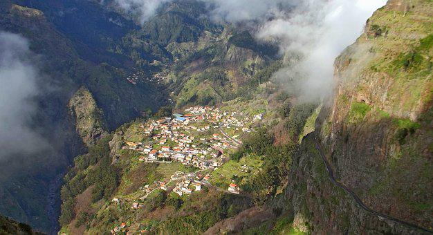 Madeira, Nuns Valley, Village, Mountain, Landscape