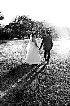 Wedding, A Couple Of, Nightfall, Dusk, Love