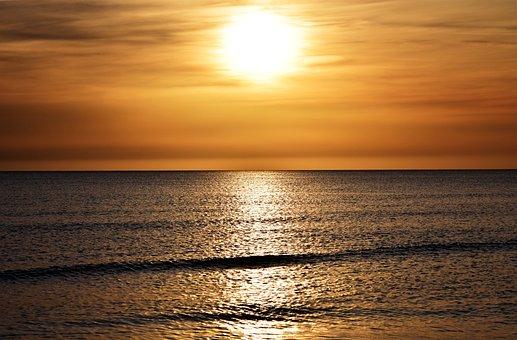 Sunset, Sea, Abendstimmung, Sunset Sea, Farbenpracht