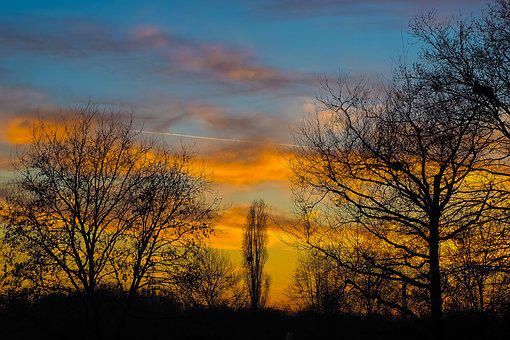 Landscape, Sunset, Nature, Sky, Evening Sky, Afterglow