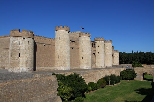 Zaragoza, Spain, Aljaferia, Europe, Travel, Tourism
