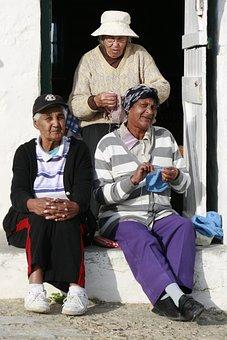 Arniston, Fishing Village, Old Ladies, Knitting