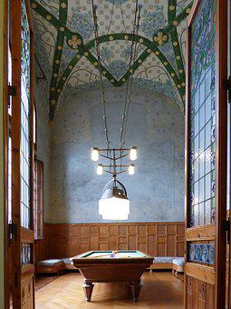 Architecture, Catalan Modernism, Art Noveau, Poolroom