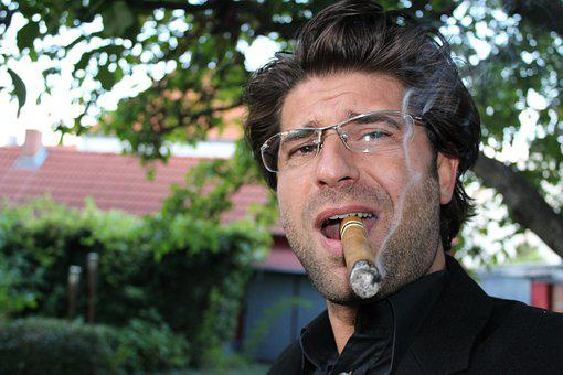 Dosdal, Cigar, One, Smoke, Benefit From, Portrait