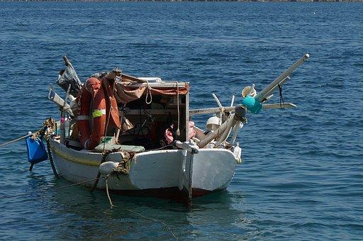 Fishing Boat, Greek Isles, Holiday, Sea, Blue, Island