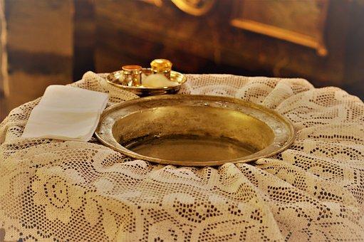 Baptismal Font, Baptism, Church, Catholic, Christianity