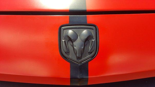 Challenger, Dodge, Logo, Red, Black, Design, Symbol